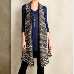 Anthro/ Moth Sleevless Duster Cardigan Size Small